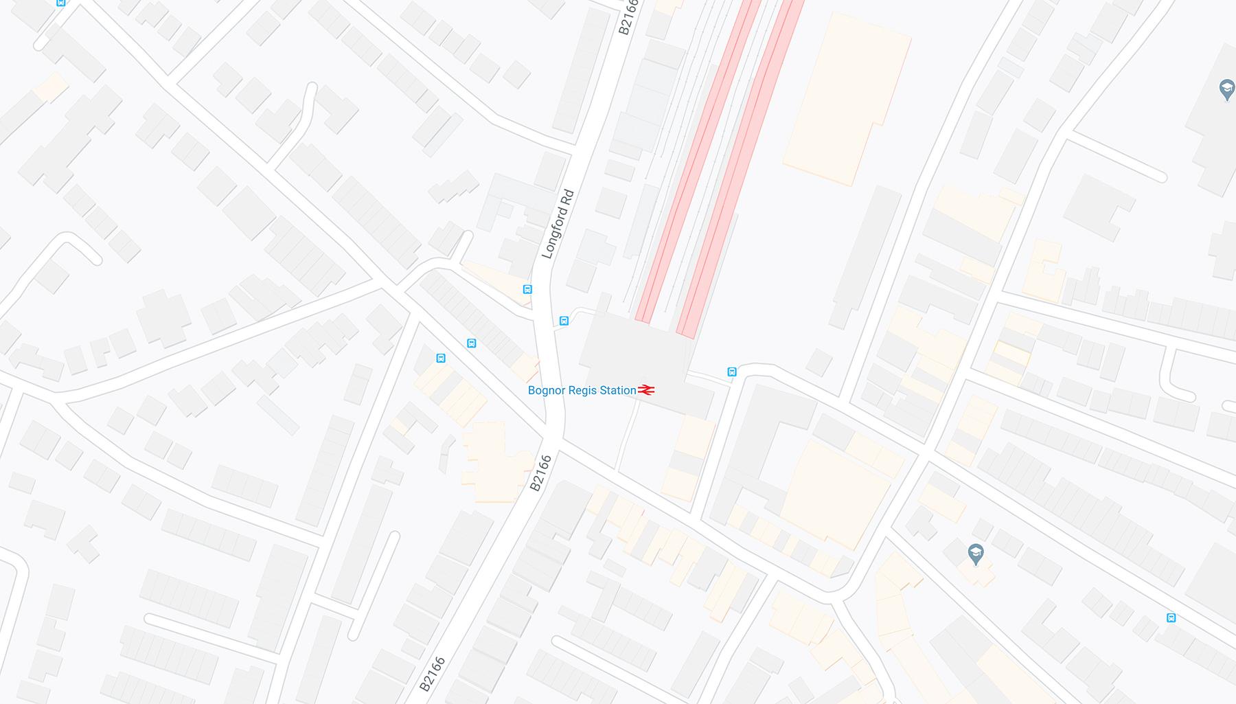 The Track Bognor Regis Map